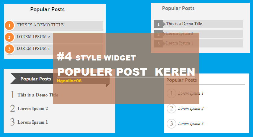 4 bentuk popular post keren