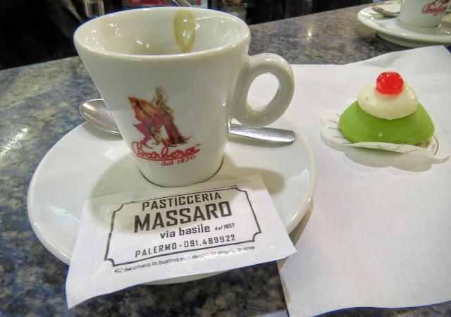 Sicilian Food - Cassata and espresso