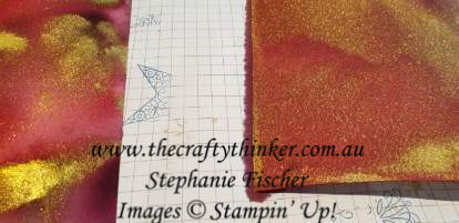 #thecraftythinker #stampinup #cardmaking #christmascard #watercolourbackground , Hand Lettered Prose, Gold Watercolour Background, Christmas Card, Stampin' Up Australia Demonstrator, Stephanie Fischer, Sydney NSW