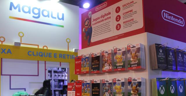 BGS 2019: Nintendo começa a vender seus cartões pré-pagos na Magazine Luiza