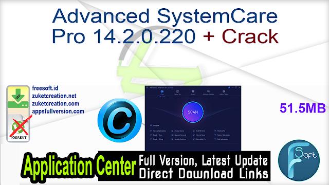 Advanced SystemCare Pro 14.2.0.220 + Crack