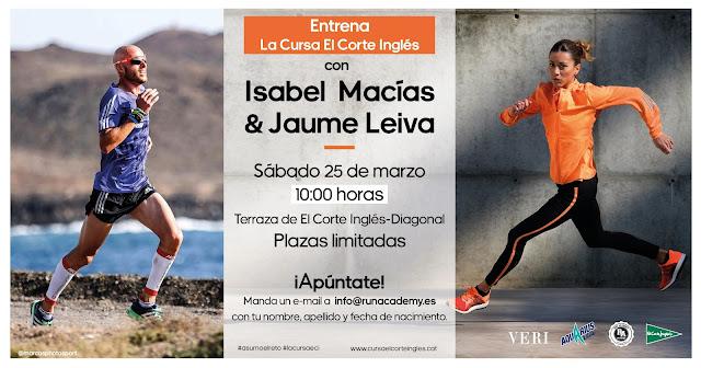 Isabel Macías y Jaume Leiva te ayudan a preparar la 39ª Cursa El Corte Inglés