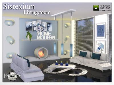 sistexium livingroom Sistexium гостиная для The Sims 4 sistexium гостиная. современность и комфорт. мягкий цвет и текстура дерева. диван. диванные подушки потолочный светильник. журнальный столик. камин. декоративный беспорядок, домашний и современный. Коврики из искусственного меха. 2 настенные декоративы 1 плитка, 2 сенсора, с прорезями, поставить свечи. 2 картины современных. Автор: jomsims