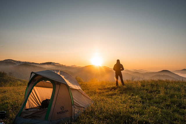 Camping, Sunrise, Travel, Health