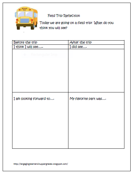 Classroom freebies too field trip reflection for Field trip lesson plan template