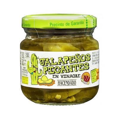 Jalapeños picantes en vinagre Hacendado