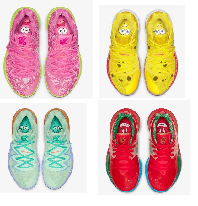 【Nike】Kyrie x 海綿寶寶系列