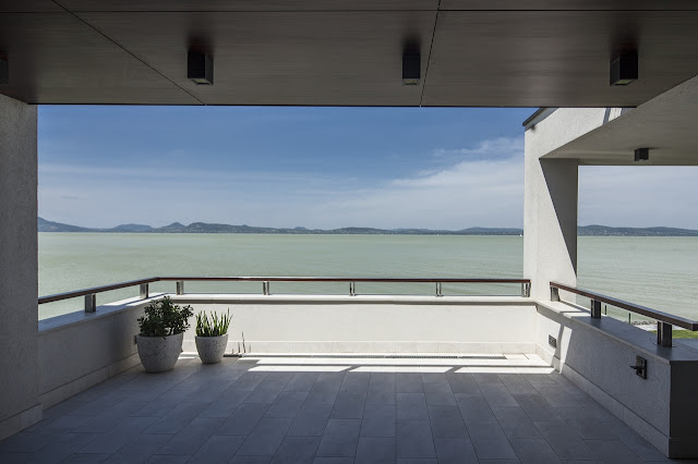 Balcony with the lake view