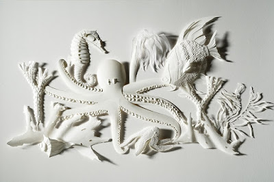 Paper Sculpture Sea Creatures