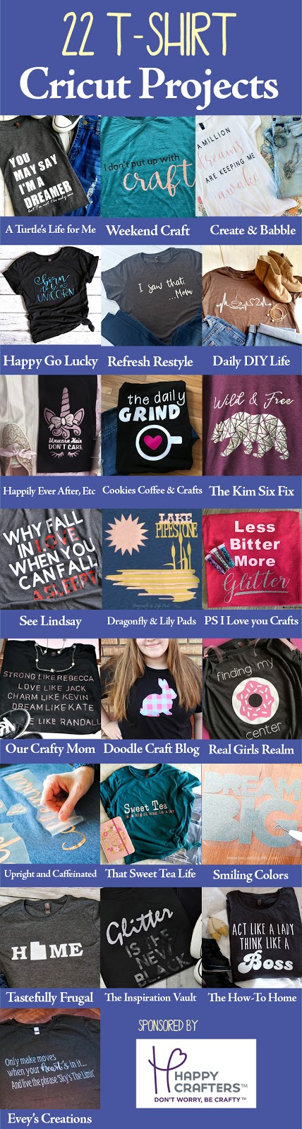 22 Heat Transfer Vinyl T-Shirt Ideas made with Cricut