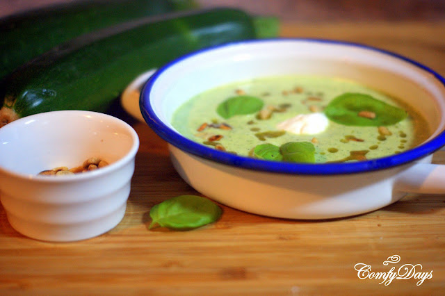 Zuchini basil soup - Comfy days