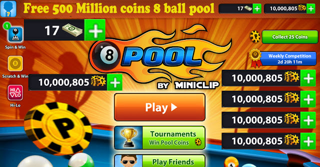 get 10 million Free coins 8 ball pool