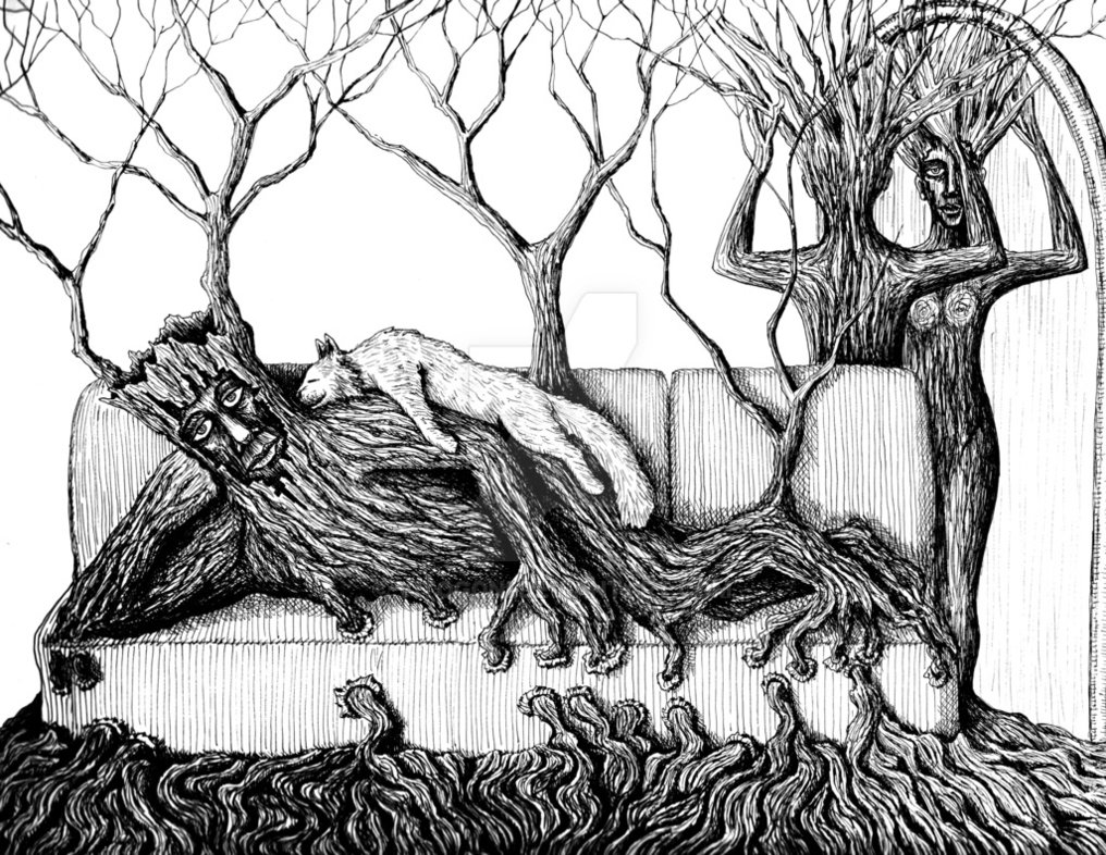 10-Life-of-Trees-Vitaliy-Gonikman-Surreal-Black-and-White-Drawings-with-a-Message-www-designstack-co