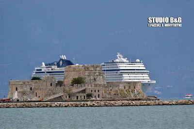 Το υπερπολυτελές κρουαζιεροπλοιο MSC MUSICA εκτάκτως λόγω κακοκαιρίας στο Ναύπλιο (βίντεο)