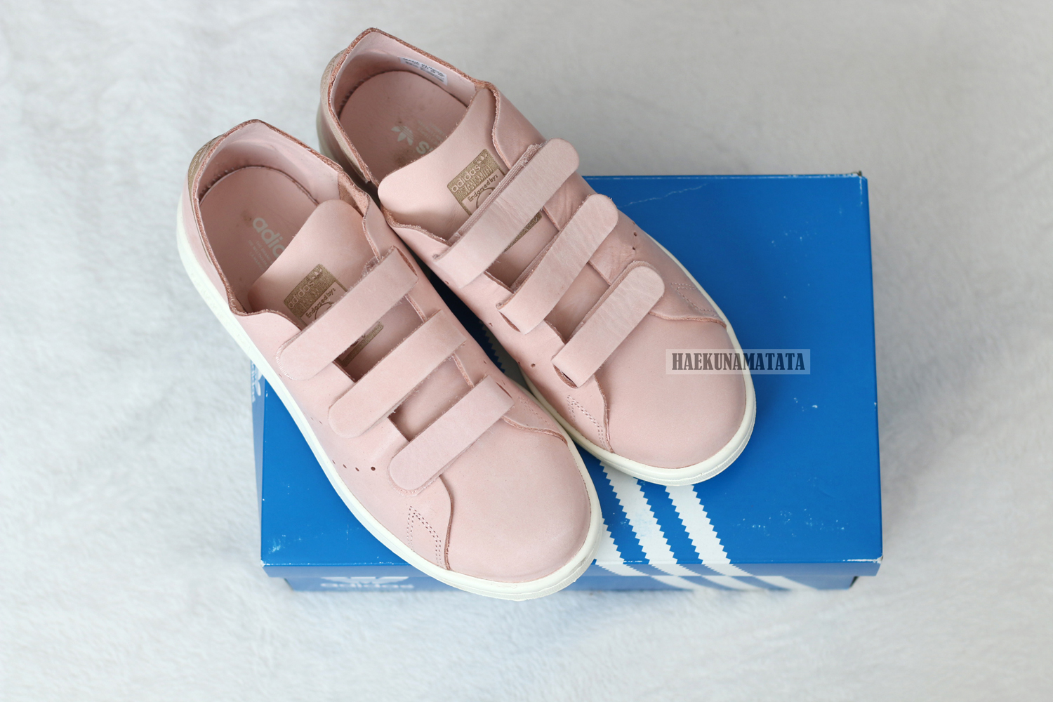Adidas Stan Smith Pink Velcro Sneakers