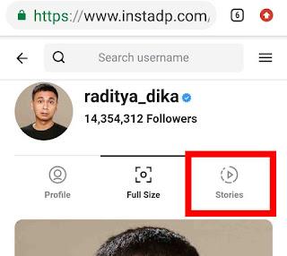 Cara menyimpan story instagram orang lain