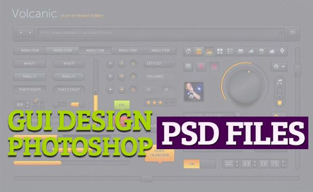45 Fantastic Free GUI Photoshop PSD Sets