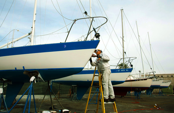 Refurbishing our keelboats