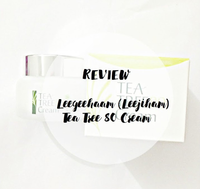 leegeehaam tea tree 80 cream  review