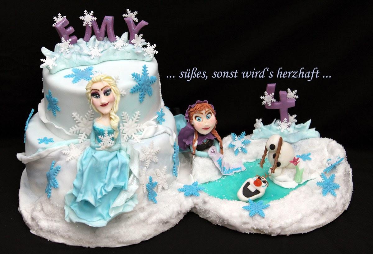 Susses Sonst Wird S Herzhaft Frozen Cake Die Eiskonigin Torte