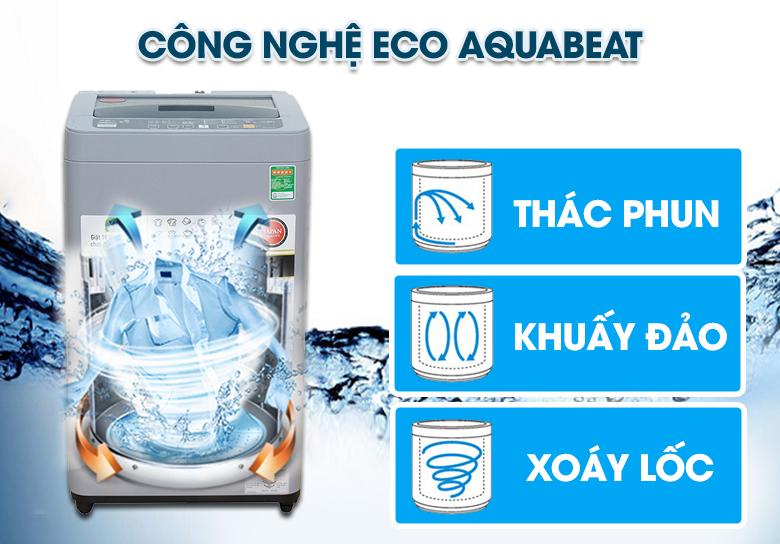 Công nghệ Máy giặt Panasonic NA-F76VS9GRV Eco Aquabeat đánh bay vết bẩn