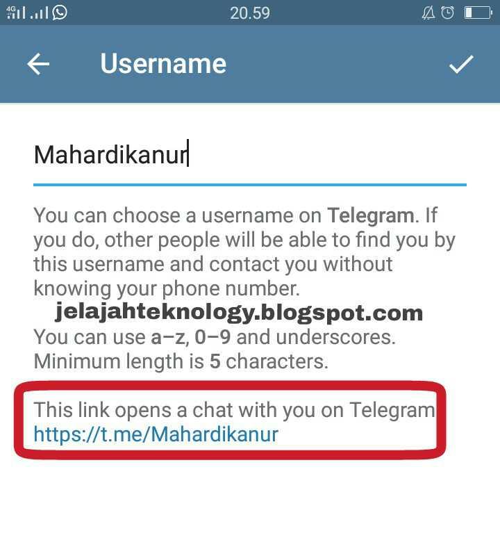 Cara mengetahui link dan Id Telegram sendiri - Jelajah Tekno