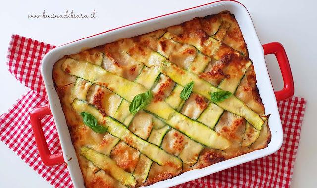 Lasagna bianca di zucchine