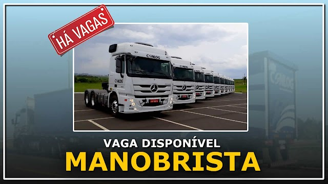 Transportadora Conlog abre vagas para Manobrista