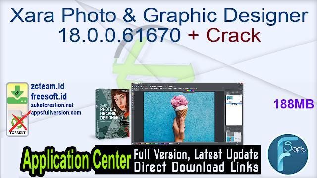 Xara Photo & Graphic Designer 18.0.0.61670 + Crack