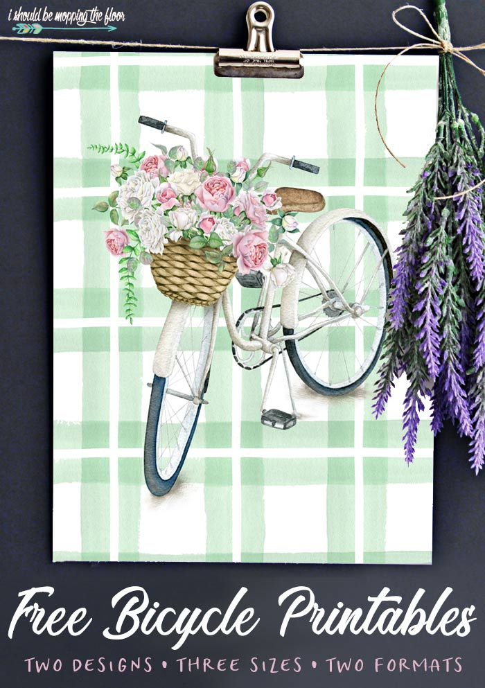 Bicycle Flower Printable