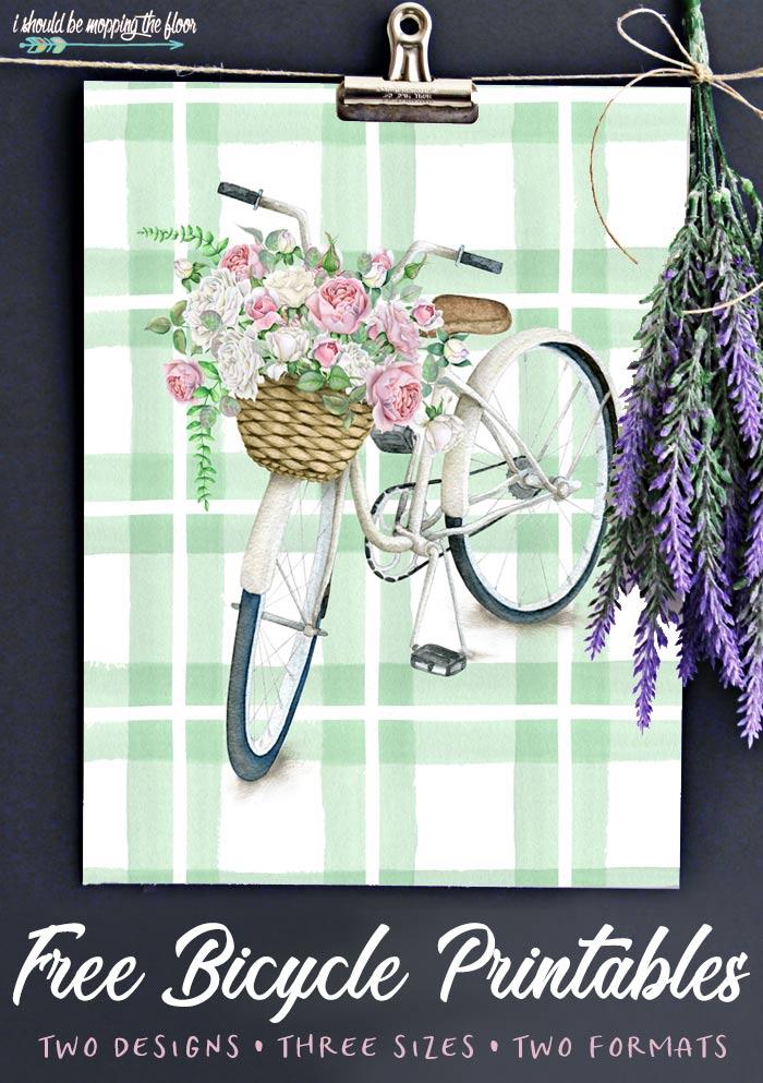 Bicycle Flower Printable