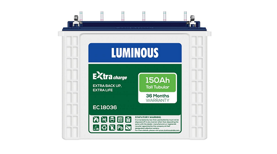 Luminous ExtraCharge EC18036 150Ah Tall Tubular Inverter Battery