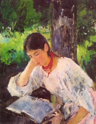 Серов Валентин Александрович Портрет А.Я. Симонович (1889)