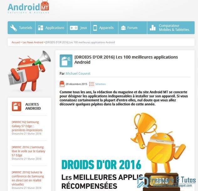 Le site du jour : Les 100 meilleures applications Android