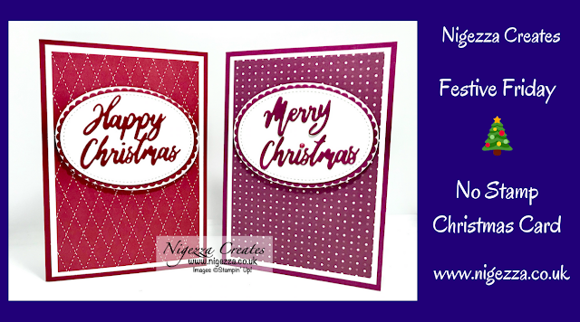 Nigezza Creates with Stampin Up Word Wishes, Christmas Card