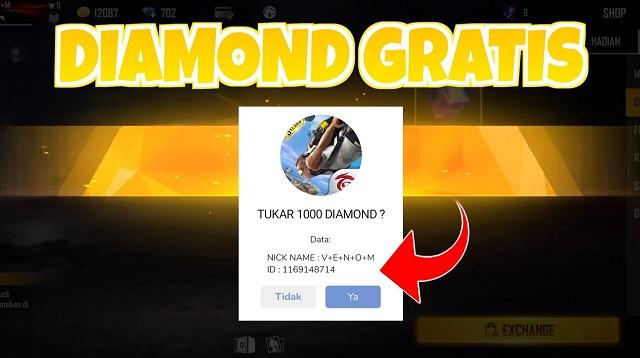 Cara Bug Diamond Gratis FF