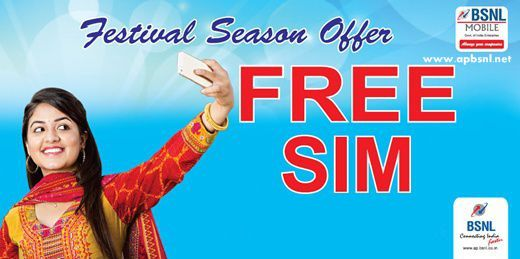 BSNL Offers FREE SIM card to new customers in AP Telangana