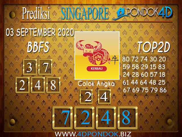 Prediksi Togel SINGAPORE PONDOK4D 02 SEPTEMBER 2020