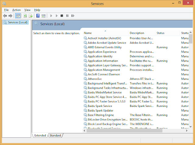 Gambar jendela services