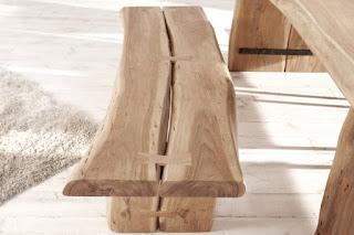 Designova dřevěný lavice natural, Reaction