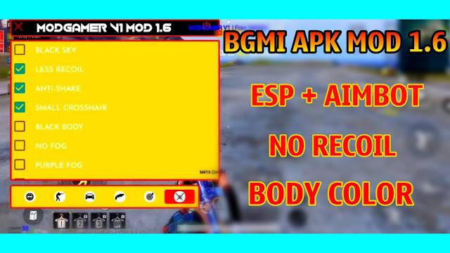 BGMI MOD APK 1.6 | ESP AIMBOT | BULLETRACK | NO RECOIL | MAIN ID SAFE | BGMI MOD ESP AIMBOT | HACK BGMI 1.6