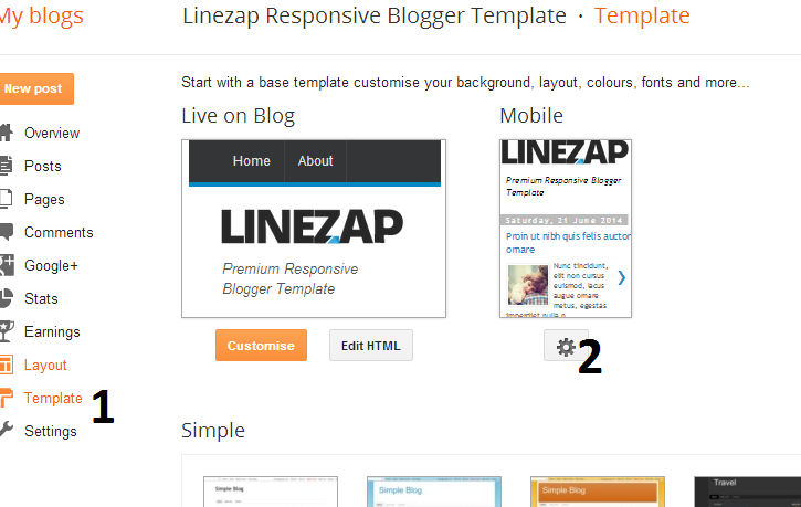 Enable Mobile Template in Blogger/Blogspot