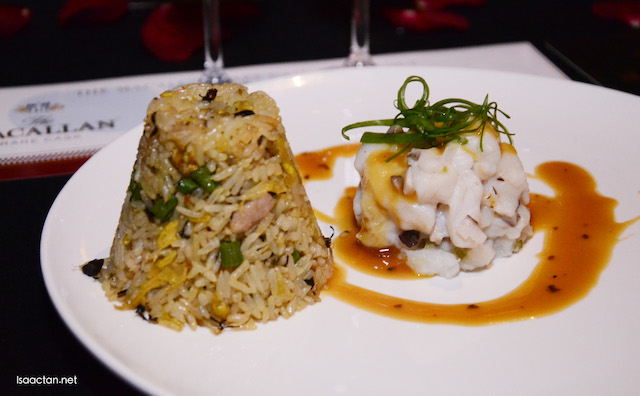 Truffle Soon Hock with Olive Fried Rice,