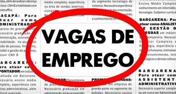 Hoje tem vagas de emprego no Quixeré, Limoeiro, Russas e Tabuleiro