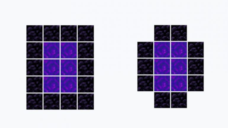 The options to create your Nether Portal with Obsidian
