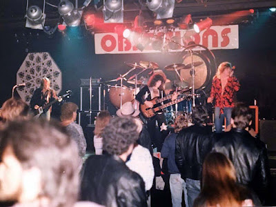 Original Black Dog band on stage at Obsession rock club