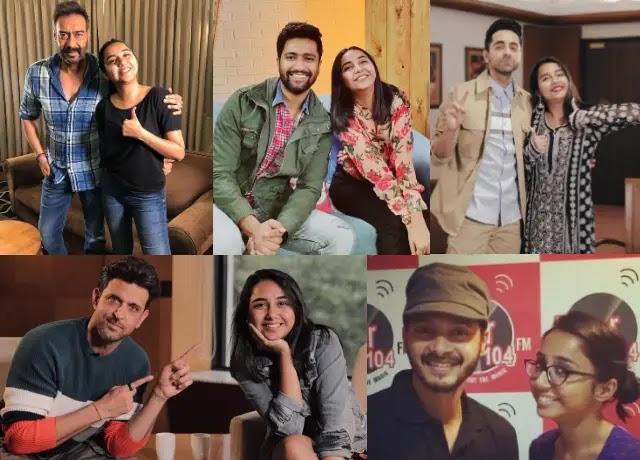 Prajakta Koli with bollywood celebrities