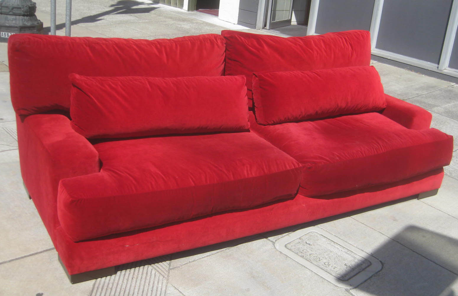 red velvet sofa furniture sofas for small rooms uhuru and collectibles sold 200