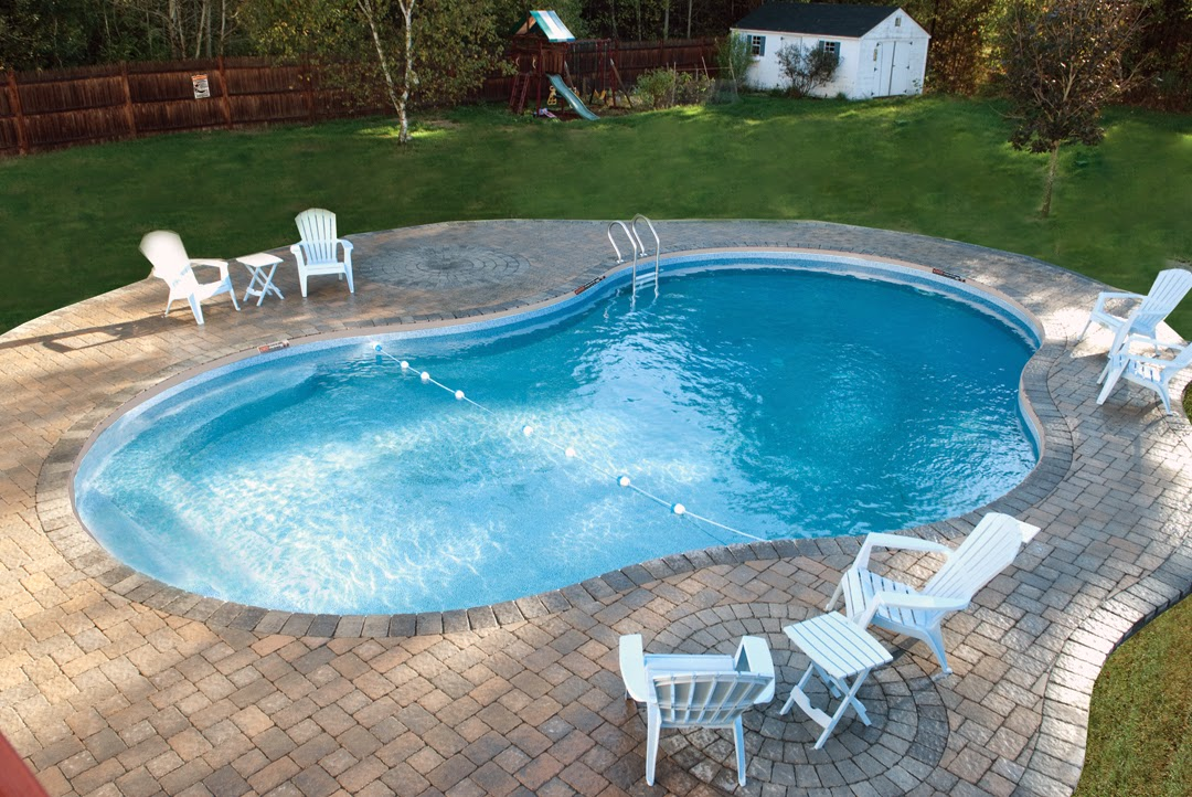 The Fabulous Mountain Pond Shape pool photograph