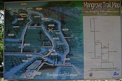 Peta lokasi Hutan Mangrove Taman Hutan Raya Ngurah Rai Bali - Backpacker Manyar